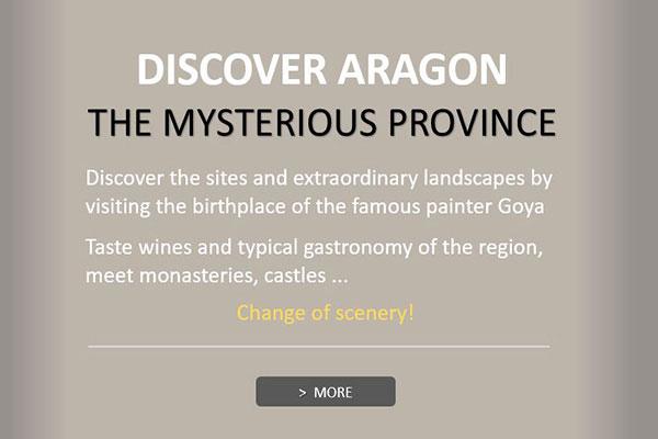 Visit Huesca, Zaragoza, Teruel, natural parks, limestone mountain ranges, desert landscapes, its Roman remains, its Romanesque art, Mozarabic and Mudejar